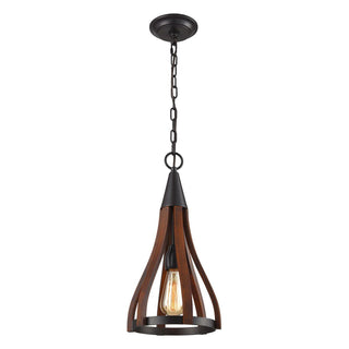 CLA Lighting Khaleesi Dark Red Timber Pendant
