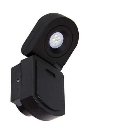 LED Flood Light Adjustable Black 10W in 4000K 21cm Curo Oriel Lighting - Alpha Lighting & Electrics