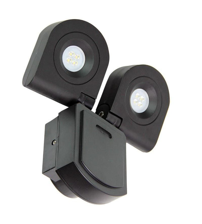 LED Flood Light Twin Adjustable Black 20W in 4000K 21cm Curo Oriel Lighting - Alpha Lighting & Electrics