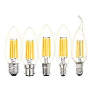 Lusion Lighting 4W Filament Candle LED Dimmable Full Glass Lamps - E14