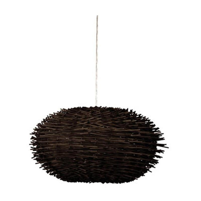 Pendant Shade Brown Woven Cane in 35cm or 50cm Butan Oriel Lighting - Alpha Lighting & Electrics