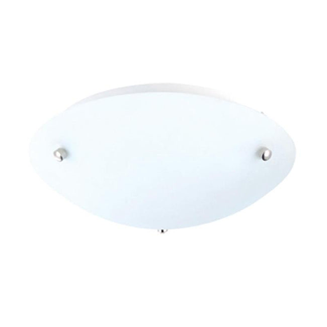 CFL Oyster Ceiling Light Round Nickel in 22W or 40W Volute Oriel Lighting - Alpha Lighting & Electrics