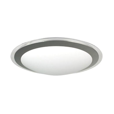 CFL Ceiling Light Round w Silver Trim T5 in 22W or 40W Vello Oriel Lighting - Alpha Lighting & Electrics