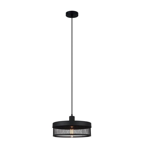 Pendant Light Matt Black E27 in 36cm Chester Oriel Lighting - Alpha Lighting & Electrics