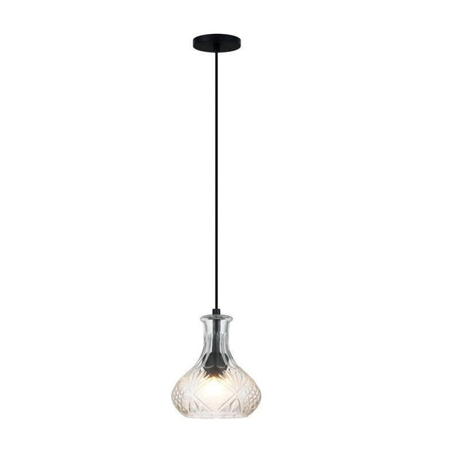 Pendant Light Clear Glass E27 in 25cm Decant Oriel Lighting - Alpha Lighting & Electrics