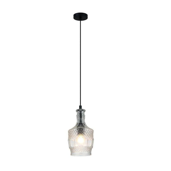 Pendant Light Clear Glass E27 in 24cm Decant Oriel Lighting - Alpha Lighting & Electrics