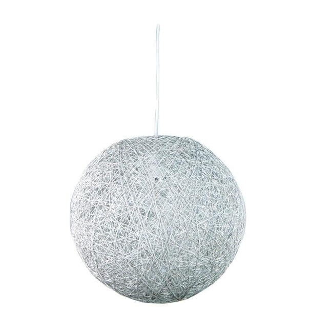 Pendant Light Spherical Ball in Brown or White B22 Kono Oriel Lighting | Alpha Lighting & Electrics