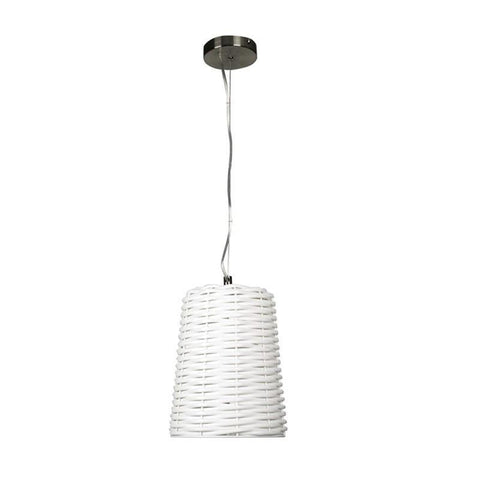 Pendant Light in White E27 25cm Moreton Oriel Lighting - Alpha Lighting & Electrics
