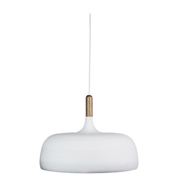 Pendant Light Black or White E27 in 48cm Malt Oriel Lighting - Alpha Lighting & Electrics