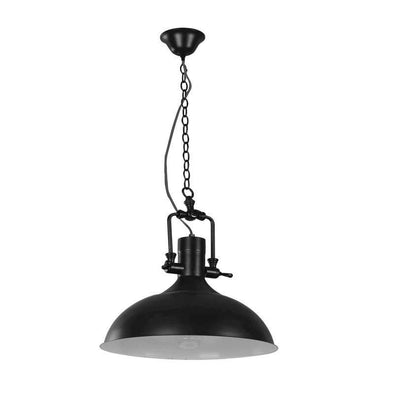 Pendant Light in Black Brown Red or Chrome E27 37cm Cottage Oriel Lighting - Alpha Lighting & Electrics