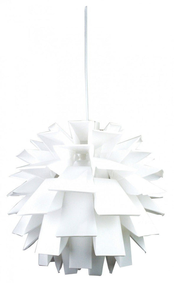 Pendant Light in White E27 43cm Ziggy Oriel Lighting - Alpha Lighting & Electrics