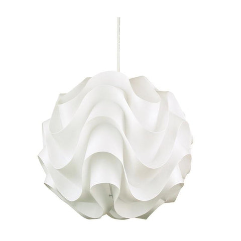Pendant Light in White E27 43cm Chic Oriel Lighting - Alpha Lighting & Electrics