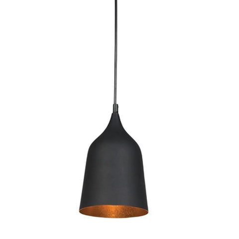 Pendant Light Matt Black or Matt White E27 in 38cm Plato Oriel Lighting