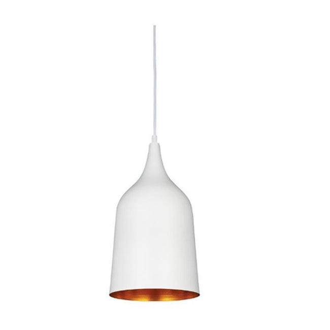 Pendant Light Matt Black or Matt White E27 in 38cm Plato Oriel Lighting - Alpha Lighting & Electrics