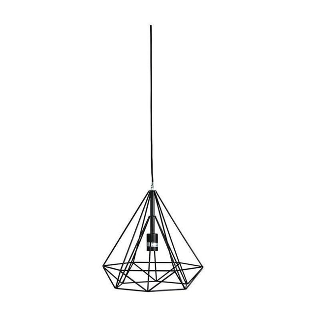 Pendant Light in Matt Black or Copper E27 39cm Lenox Oriel Lighting - Alpha Lighting & Electrics