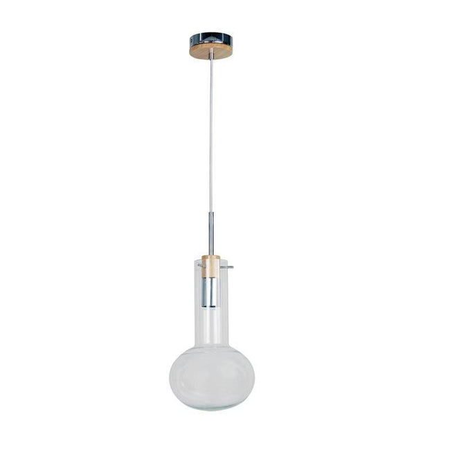 Pendant Light Clear Glass E27 in 17,19 and 30cm Holbeck Oriel Lighting | Alpha Lighting & Electrics