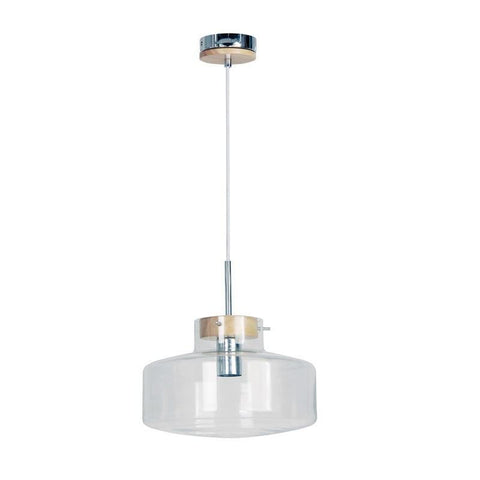 Pendant Light Clear Glass E27 in 17,19 and 30cm Holbeck Oriel Lighting - Alpha Lighting & Electrics
