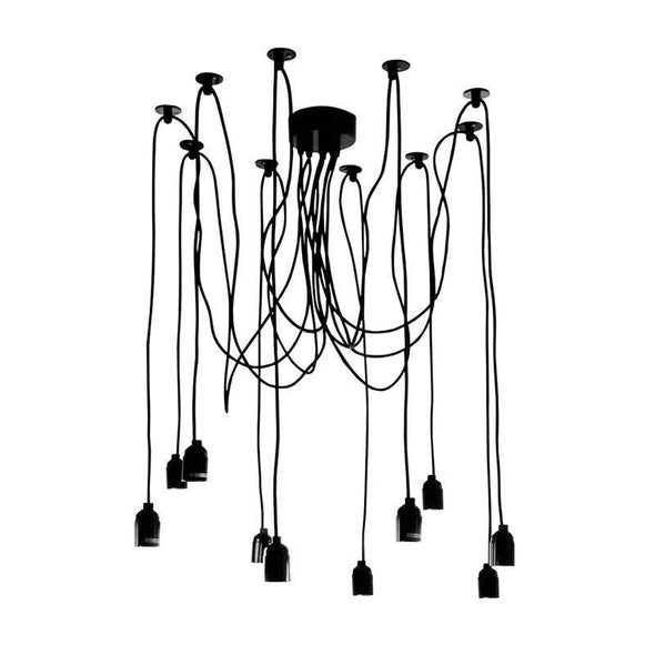 Pendant Light Suspension Frame in Black or White E27 180cm Philly Oriel Lighting - Alpha Lighting & Electrics