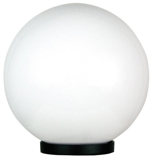 Post Top Light Exterior Opal Acrylic Sphere E27 Galactic Oriel Lighting - Alpha Lighting & Electrics