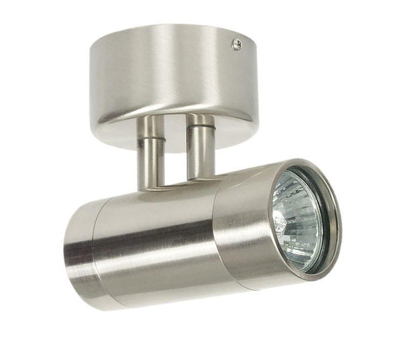 Halogen Wall Light External in Chrome or Copper GU10 35W 12cm Comma Oriel - Alpha Lighting & Electrics