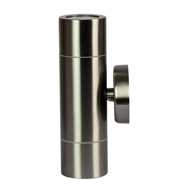 Wall Light Up & Down Outdoor Stainless Steel GU10 in 20cm Zeta Oriel Lighting - Alpha Lighting & Electrics