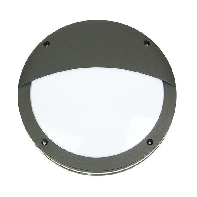 Wall Light Outdoor Eyelid Black Graphite or White E27 30cm Tonato Oriel Lighting - Alpha Lighting & Electrics