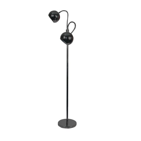 Floor Lamp Twin in Chrome or Gunmetal 137cm Bobo Oriel Lighting - Alpha Lighting & Electrics