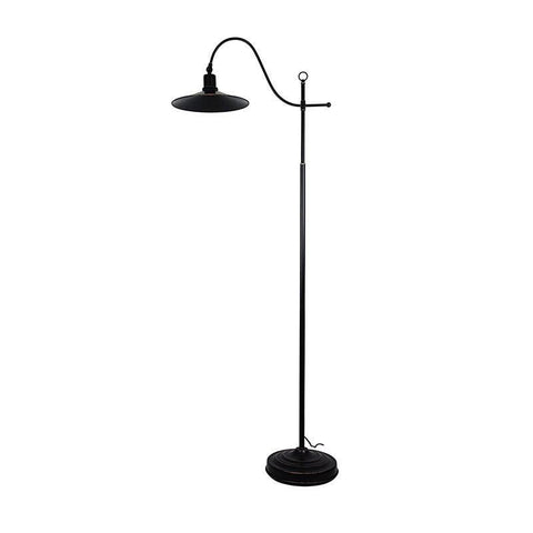 Floor Lamp Adjustable Rubbed Bronze E27 in 160cm Boston Oriel Lighting - Alpha Lighting & Electrics