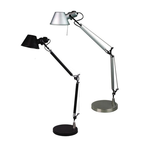 Table Lamp Adjustable in Black Silver or White 84cm Forma Oriel Lighting - Alpha Lighting & Electrics