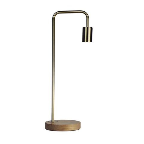 Table Lamp Brass Black Copper or White E27 in 50cm Lane Oriel Lighting - Alpha Lighting & Electrics