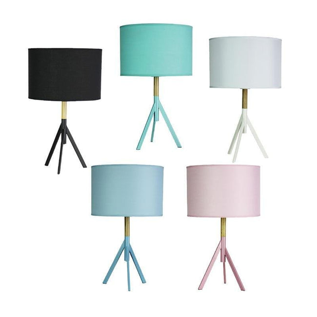 Table Lamp Black Blue Green Pink or White E27 in 85cm Micky Oriel Lighting - Alpha Lighting & Electrics
