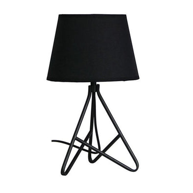 Table Lamp in Black or Copper Base w Black Shade 42cm Nolita Oriel Lighting - Alpha Lighting & Electrics