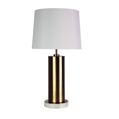 Table Lamp Antique Brass E27 in 64cm Savona Oriel Lighting - Alpha Lighting & Electrics