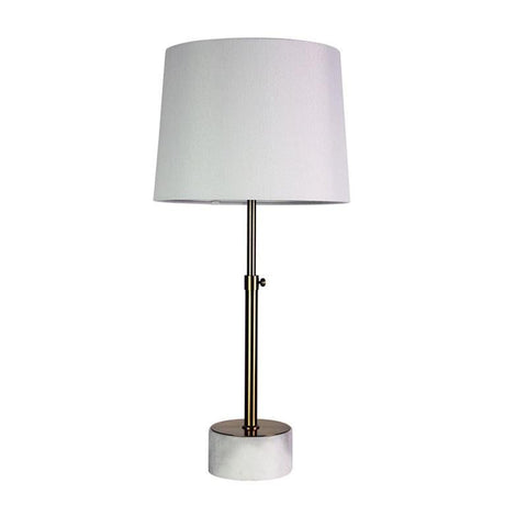 Table Lamp Antique Brass and Marble E27 in 69cm Umbria Oriel Lighting - Alpha Lighting & Electrics