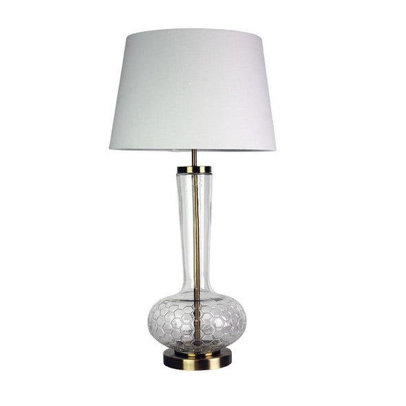 Table Lamp E27 in 75cm Pavia Oriel Lighting - Alpha Lighting & Electrics