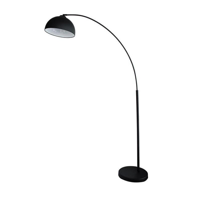 Floor Lamp Curved Arc in Matt Black or Chrome 172cm Dome Oriel Lighting - Alpha Lighting & Electrics
