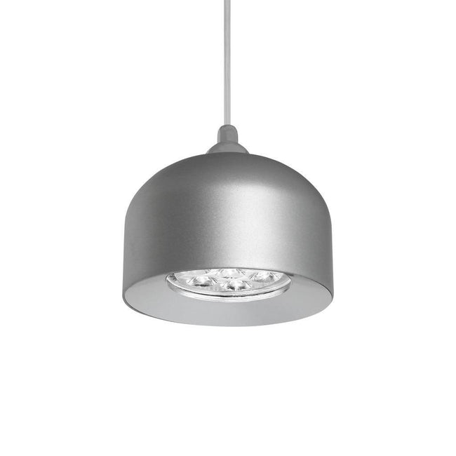 PANDORA 7W LED Dome Pendant - Natural Anodised Silver Finish