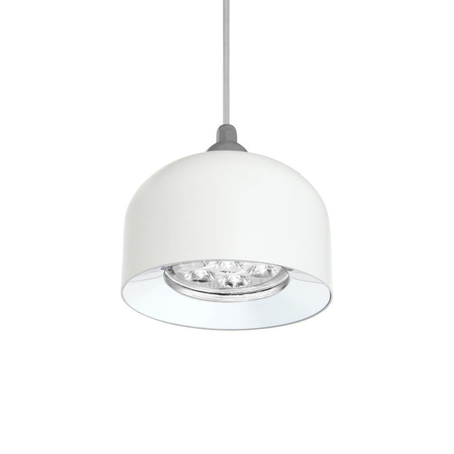 PANDORA 7W LED Dome Pendant - Satin White Finish