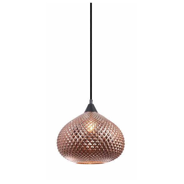 CLA Lighting Rictus Wine Glass Pendant in Copper and Gold
