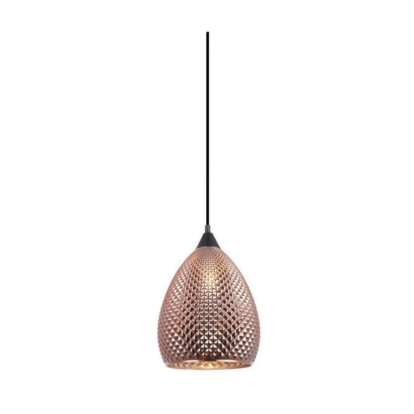 CLA Lighting Rictus Ellipse Glass Pendant in Copper and Gold