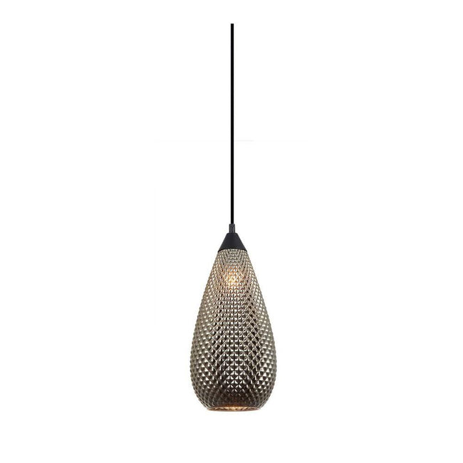 CLA Lighting Rictus Tear Drop Glass Pendant in Copper and Gold