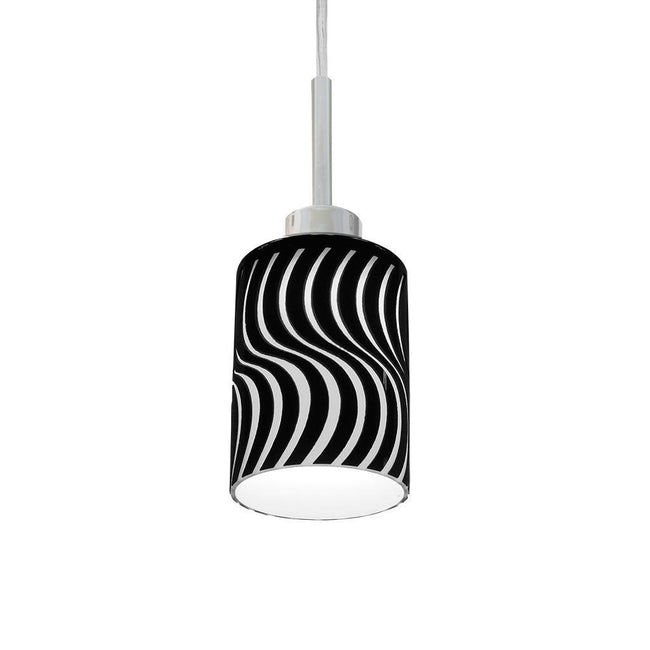 SCROLL 12W LED Swirl Pendant - Gloss Glass Shade