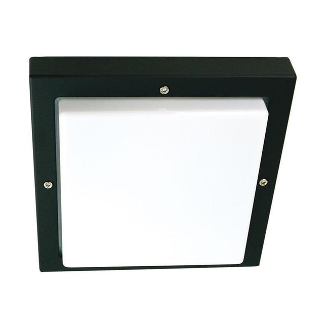 Wall Light Outdoor Black or Graphite E27 in 24cm Bassi Oriel Lighting - Alpha Lighting & Electrics