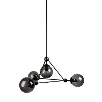 Pendant Light in Smoke/Matt Black Lunar 4 Oriel Lighting - Alpha Lighting & Electrics