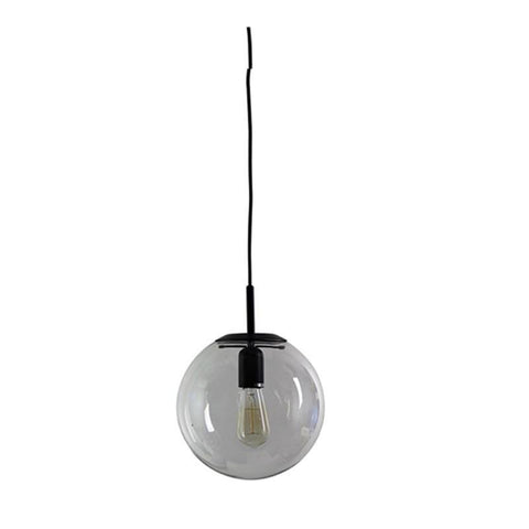 NEWTON.25 Clear Glass Pendant Light in Matt Black or Brass Oriel Lighting