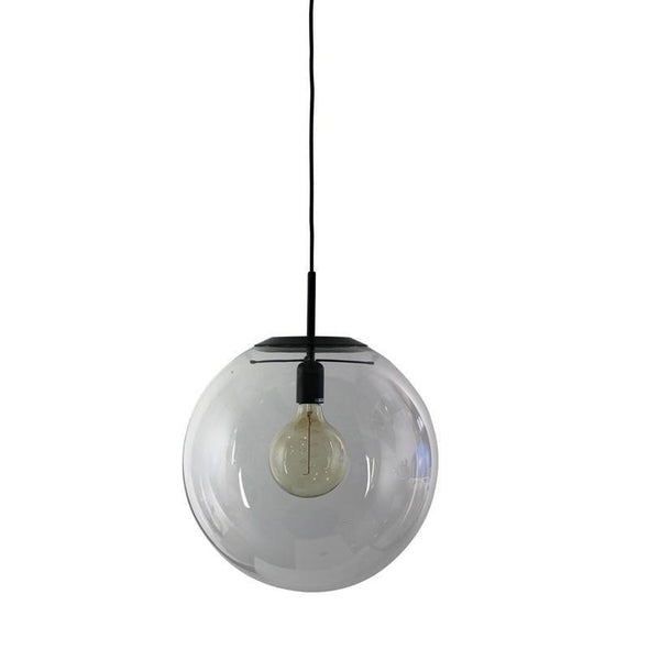NEWTON.40 Contemporary Clear Glass Pendant Light E27 Oriel Lighting - Alpha Lighting & Electrics
