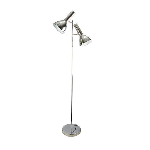 Floor Lamp Twin Head Adjustable in Black or Chrome 150cm Vespa Oriel Lighting