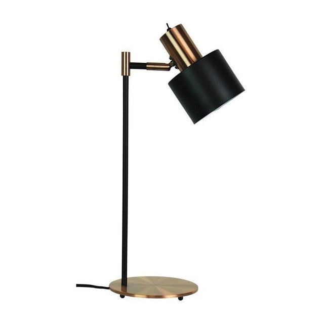 Table Lamp Adjustable Matt Black E27 in 53cm Ari Oriel Lighting - Alpha Lighting & Electrics