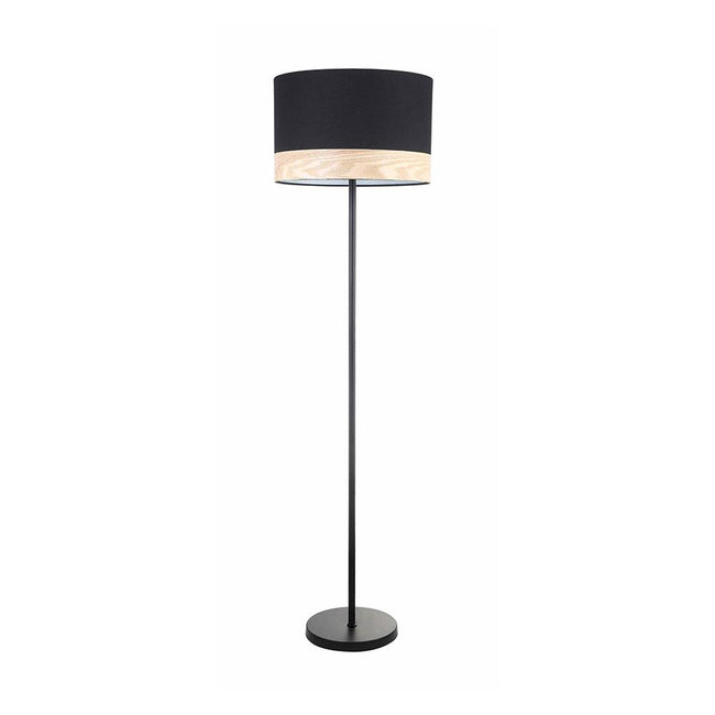 Tambura Modern Round Floor Lamp Black