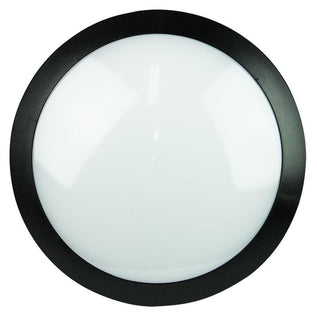 LED Oyster Exterior Round Black or Grey 14W in 4000K 29cm Duro Oriel Lighting - Alpha Lighting & Electrics